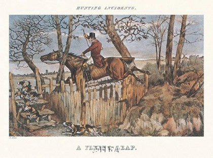 A Flying Leap by Henry Thomas Alken art print