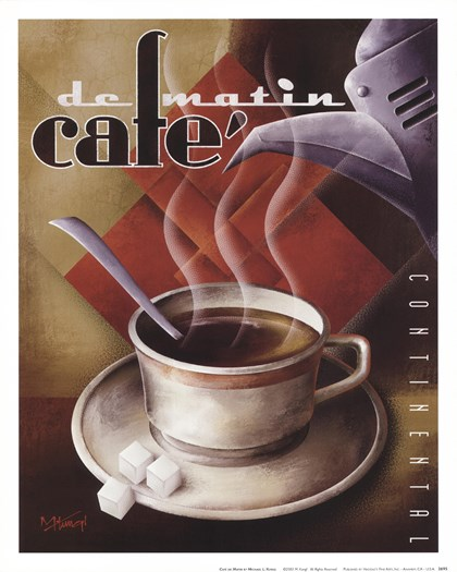 Cafe de Matin by Michael Kungl art print