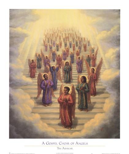Gospel Choir of Angels by Tim Ashkar art print