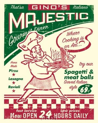 Italian Diner by Joe Giannakopoulos art print