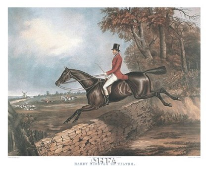 Harry Hieover on Tilter by Harry Hall art print