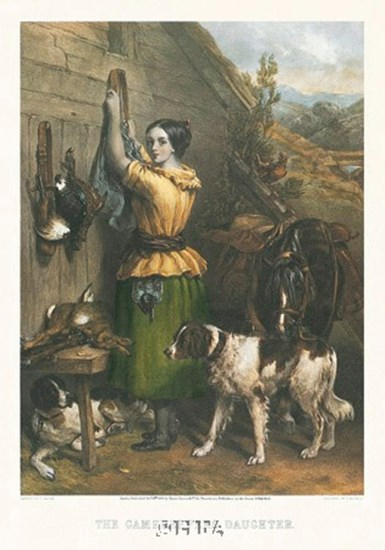 Gamekeeper's Daughter by Fred Taylor art print