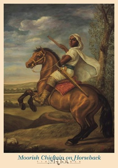 Moorish Chieftain on Horseback by Tim Ashkar art print