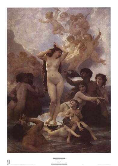 La Naissance de Venus by William Adolphe Bouguereau art print