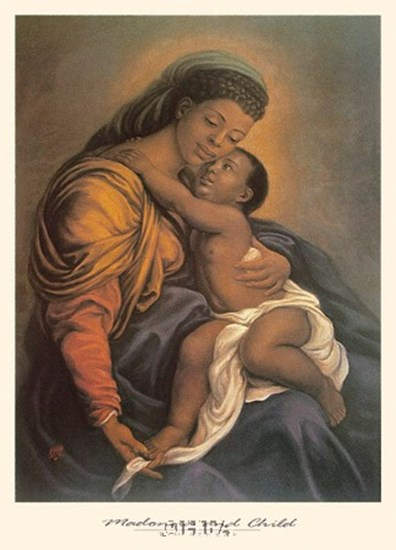 Madonna and Child by Tim Ashkar art print