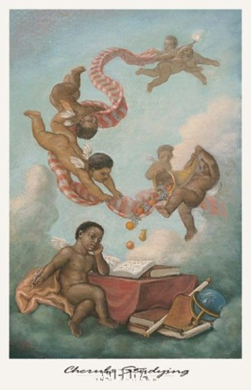 Cherubs Studying by Tim Ashkar art print