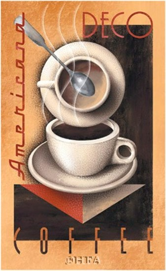 Americana Deco Coffee by Michael Kungl art print