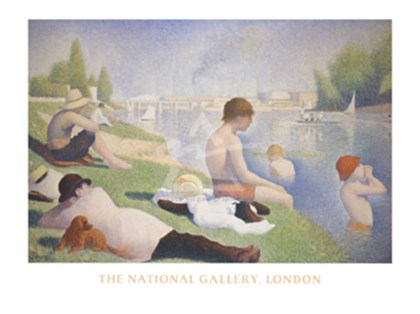 Bathers at Asnieres by Georges Seurat art print