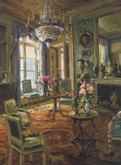 The Drawing Room by Foxwell art print