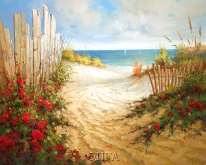 Seaside Pathway by Craig McConnell art print