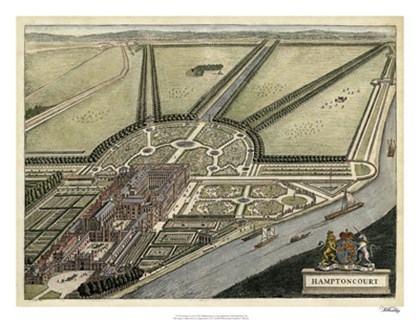 Hampton Court by Johannes Kip art print