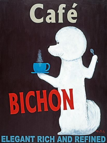 Cafe Bichon by Ken Bailey art print