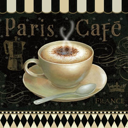 Cafe Parisien III by Daphne Brissonnet art print