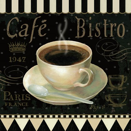 Cafe Parisien IV by Daphne Brissonnet art print