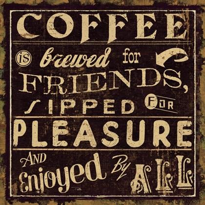 Coffee Quote II by Pela Studio art print