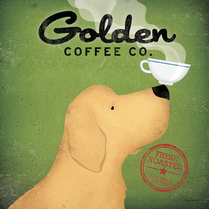 Golden Dog Coffee Co. by Ryan Fowler art print