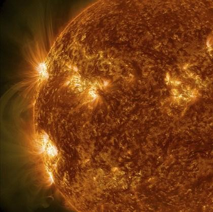 Sun Showing Solar Activity by Stocktrek Images art print