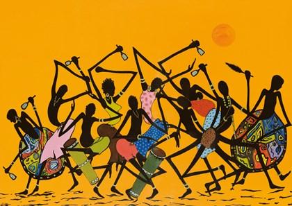 African Dance by Timothé Kodjo Honkou art print