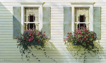 Windows With Flowerboxes by Zhen-Huan Lu art print