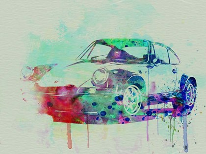 Porsche 911 Watercolor 2 by Naxart art print