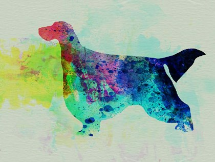 Gordon Setter Watercolor by Naxart art print