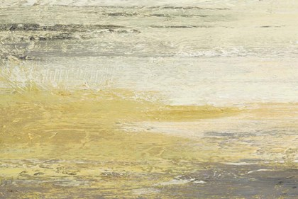 Siena Abstract Yellow Gray Landscape by Studio Nova art print