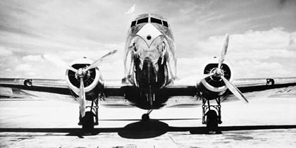 Passenger Airplane on Runway by Philip Gendreau art print