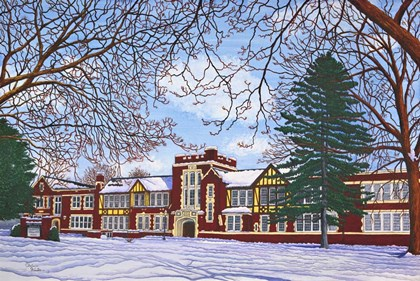 Eden Central School, Eden, Ny by Thelma Winter art print