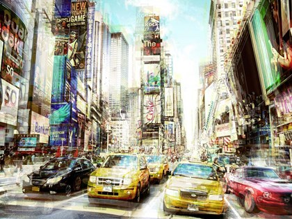 Times Square Multiexposure I by Peter Berry art print