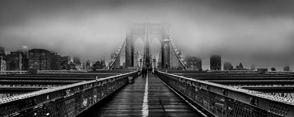 Fog over the Brooklyn Bridge, New York City by Panoramic Images art print