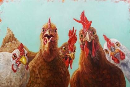 Chicken for Dinner by Lucia Heffernan art print