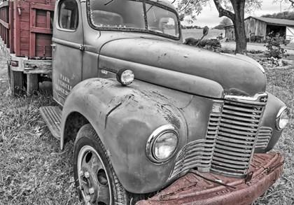 Farm Vehicle BW by Bob Rouse art print