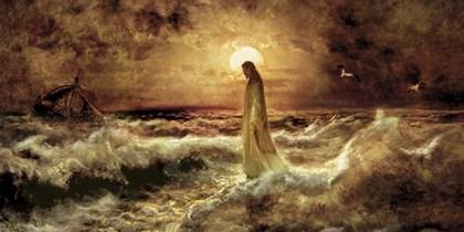 Christ On Water by Jason Bullard art print