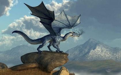 Blue Dragon by Daniel Eskridge art print