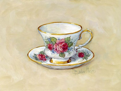 Rose Teacup by Barbara Mock art print