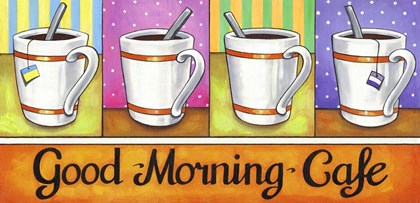 Good Morning Cafe by Cathy Horvath-Buchanan art print