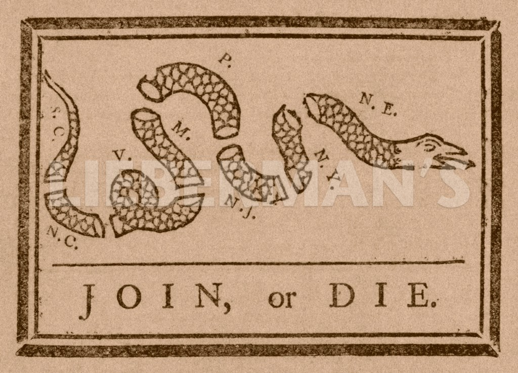 join or die the political cartoon published in philadelphia in 1754